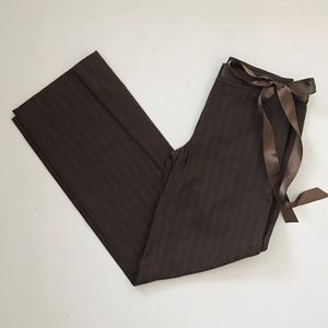 Anthropologie Brown Wide Leg Trousers - NWT